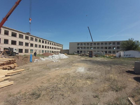 В селе Акшат Чингирлауского района ЗКО капитально ремонтируют школу