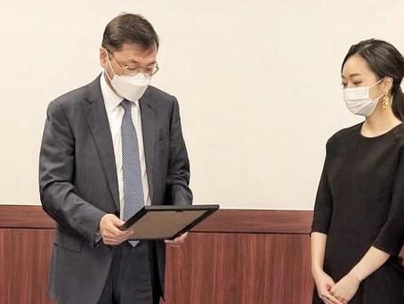 Выпускница Университета иностранных языков Ханкук получила письмо Президента Казахстана