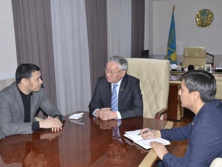 Встреча с Генеральным директором телеканала «Астана» Курманбеком Жумагали