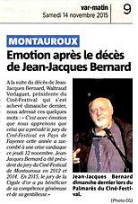 Article Var Matin Jean Jacques Bernard