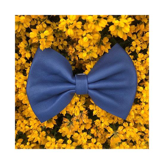 Noeud Papillon Cuir Bleu / Taille L