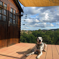 Au soleil sur la terrasse de la pension