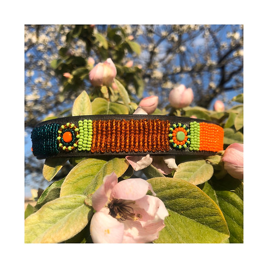 Collier Orange-Vert / Taille S