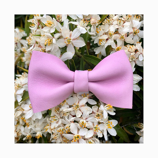Noeud Papillon Cuir Rose / Taille M