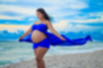 pregnant lady in the beach