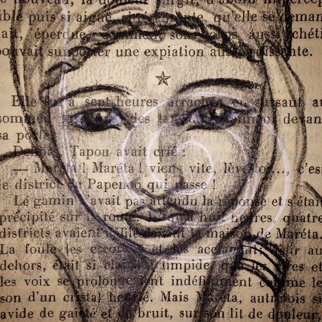 Instagram - #charcoal #bookwork #artistsbooks #text #face #art #drawing #russian