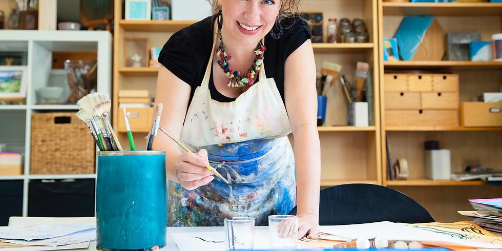 Vivianne Hazenveld - Artist in Residence at Rydges Hotel