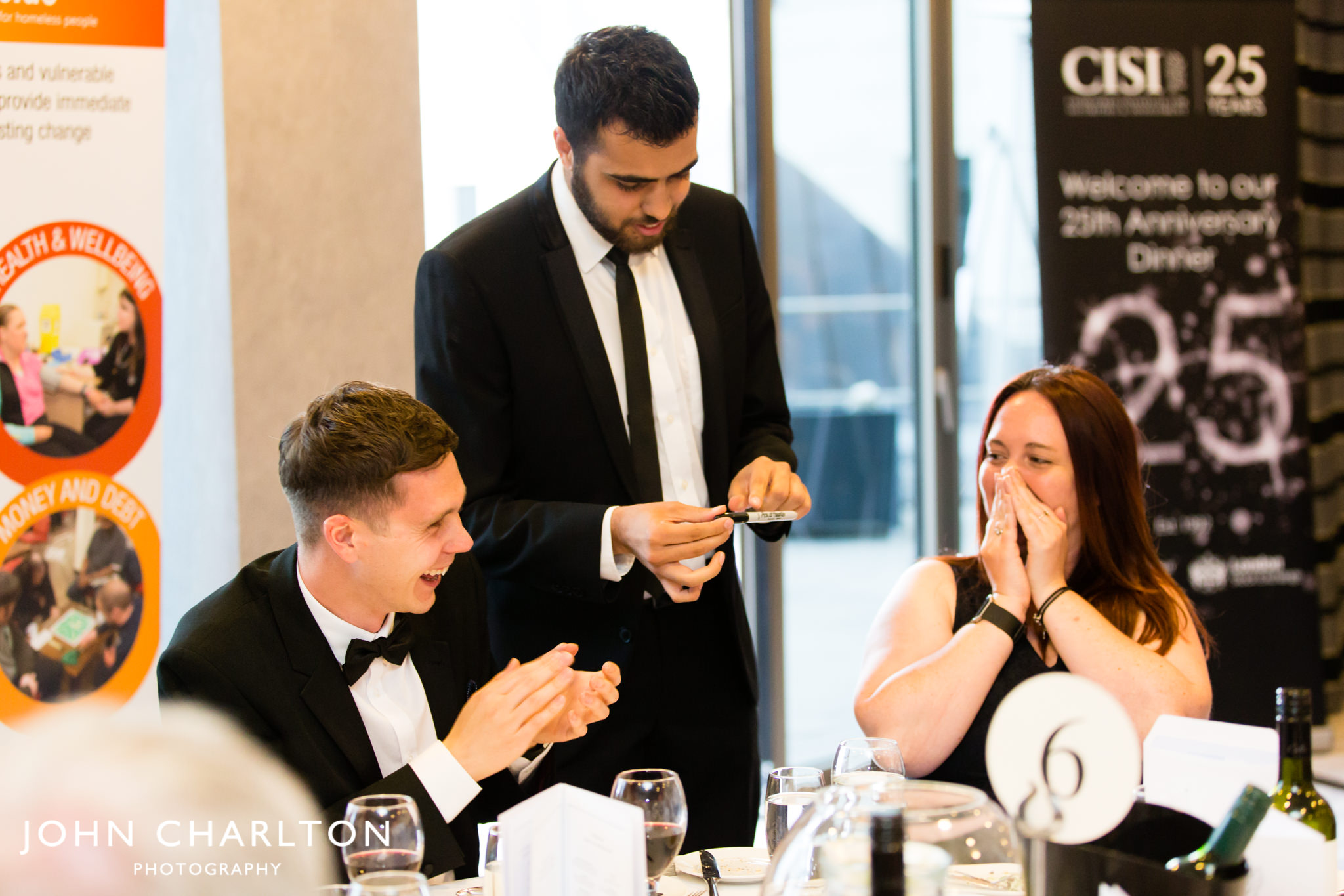 Performing at the CISI Annual Dinner