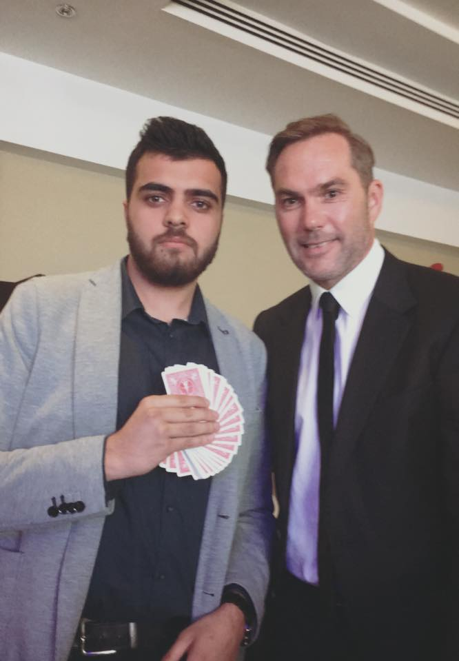 Performed magic for Jason Mcateer