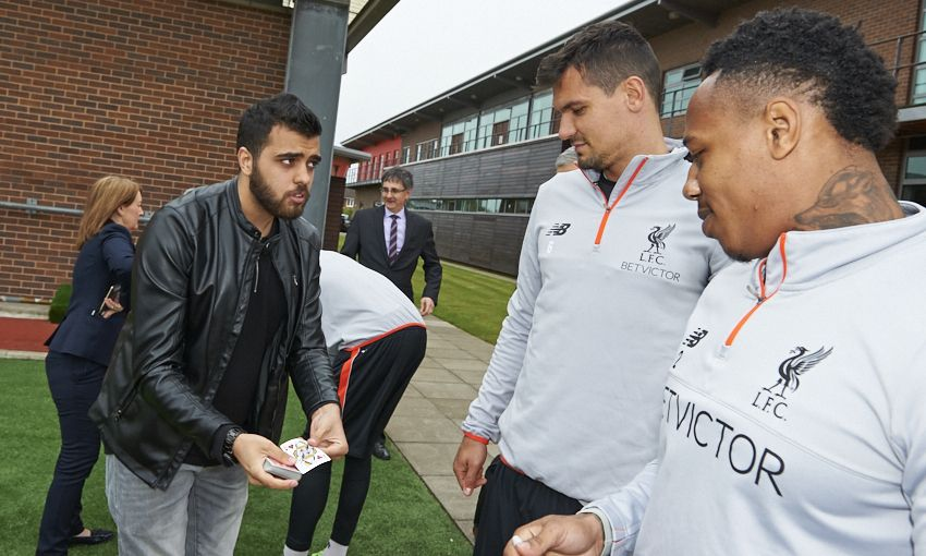 Magic at Melwood with LFC players