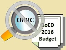 The Once and Future OBRC?  (Operating Budget Review Committee)