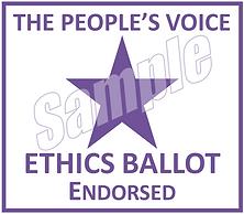 Ethics Ballot Endorsed Logo Sample - Whi