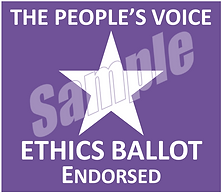 Ethics Ballot Endorsed Logo Sample - Pur