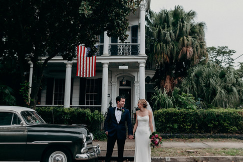 America, New Orleans, Henry Howard Hotel, Classic Car, Palm Trees, Bouquet