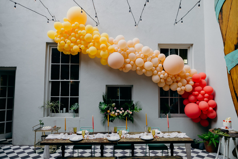 Green Wedding Shoes Feature: Balloon Installation