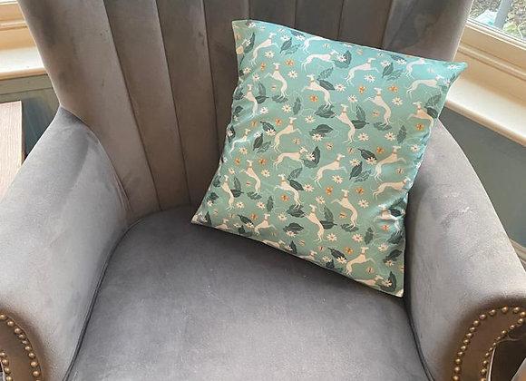 Hounds & Butterflies Cushion Cover