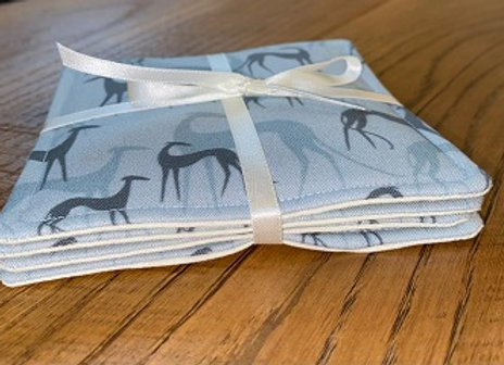 Sighthound (Pale Blue) Coasters