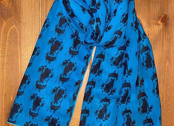 The Nosey Sighthound Scarf - Teal