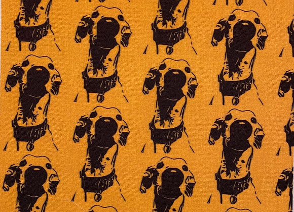 The Nosey Hound (Gold) Cushion COVER