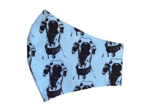 blue greyhound mask