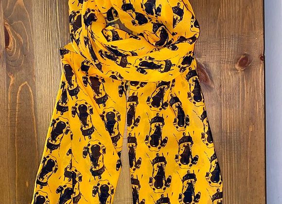The Nosey Sighthound Scarf - Gold