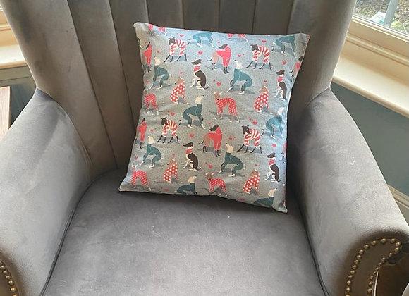 House in Pyjamas (Blue) Cushion Cover