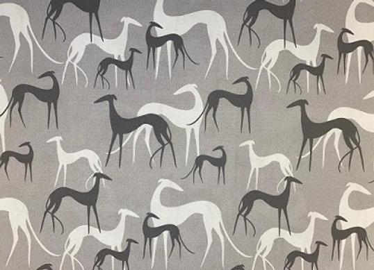 Sighthound (White & Grey) Cushion COVER