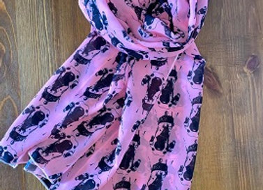 The Nosey Sighthound Scarf - Pink
