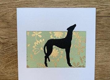 lurcher greeting card