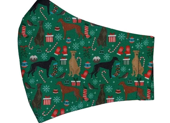 Christmas Hounds (Green) Mask