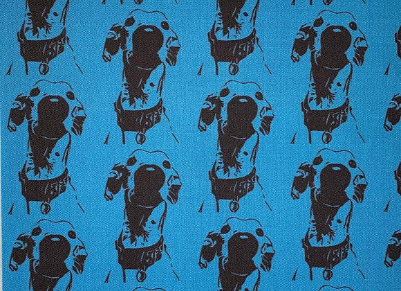 The Nosey Hound (Blue) Cushion COVER