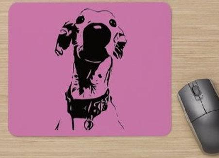 Nosey Sighthound Mouse Mat - Magenta