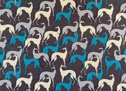 Christmas Stocking - Sighthounds (Charcoal)