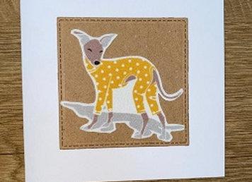 greyhound notelet