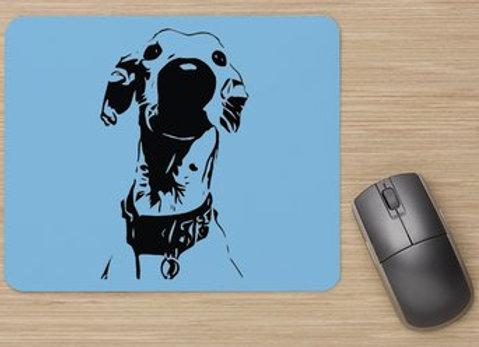 Nosey Sighthound Mouse Mat - Blue