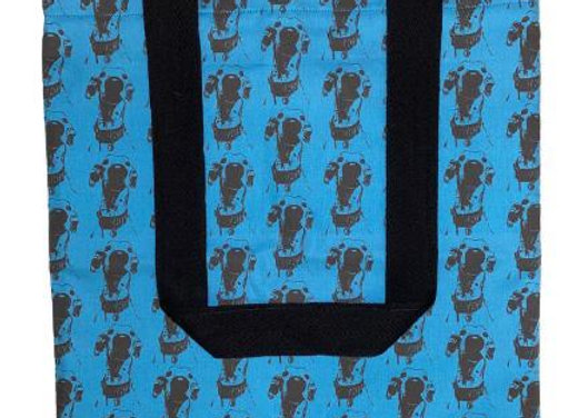 The Nosey Sighthound (Teal) Tote Bag