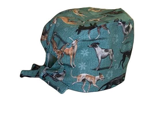 greyhound scrub cap