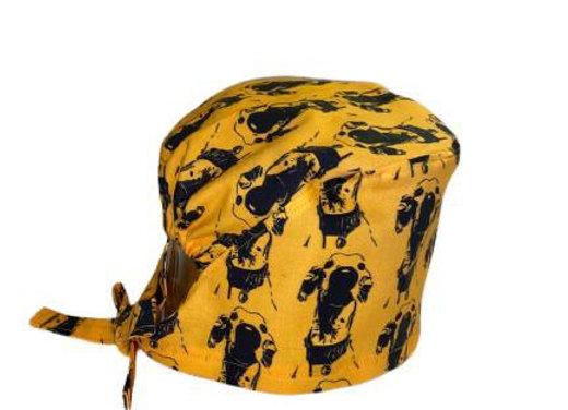 The Nosey Hound (Gold) Scrub Cap