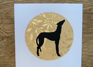 sighthound greeting card