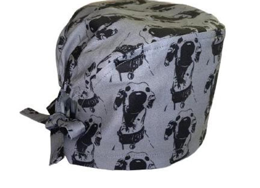 The Nosey Hound (Grey) Scrub Cap