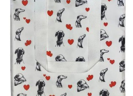 sighthounds hearts tote bag