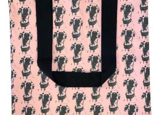 The Nosey Sighthound (Pink) Tote Bag