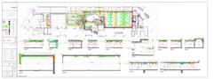 גינדי תל אביב תכנית סופרפוזיציה וחתכים מבנה ציבור