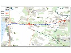 מנהרת גילון - מפה