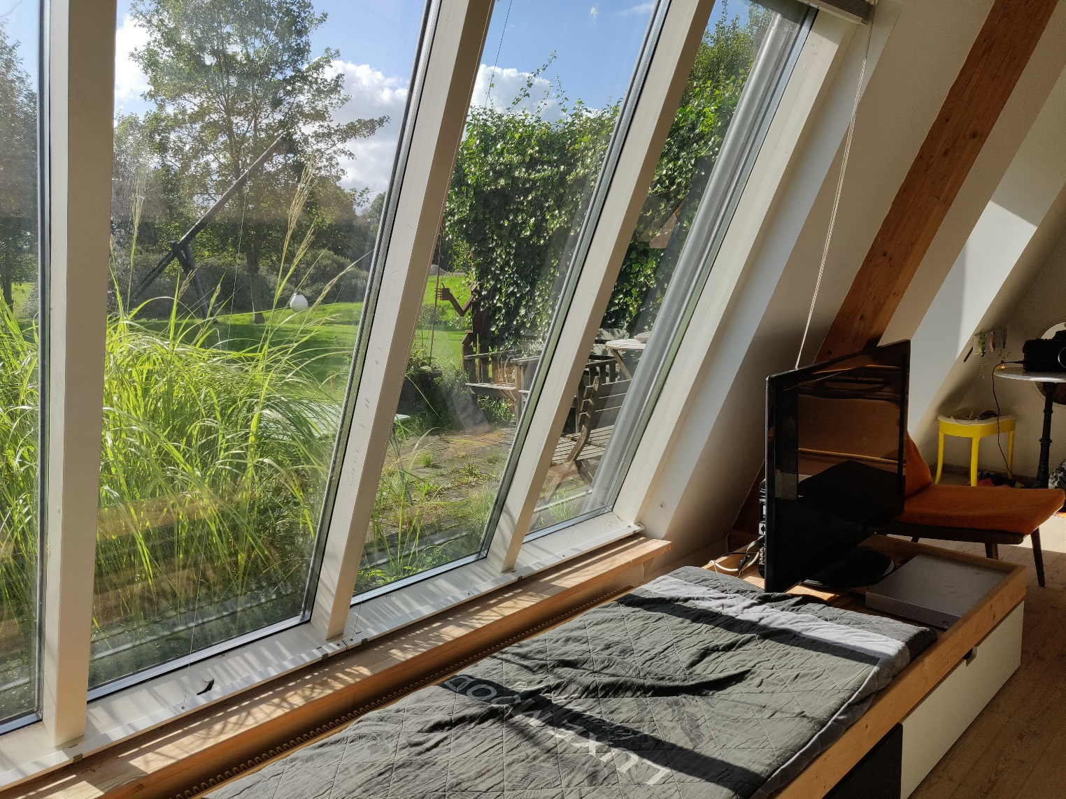 Kik til solrig terrasse
