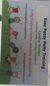 Easy Peasy Potty Training Business Card