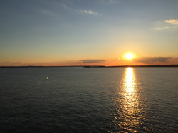 Sunset on the Solent