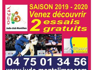 Mise à jour des tarifs & planning saison 2019/2020 à partir du 15 Août 2019 Le Judo Club Montili
