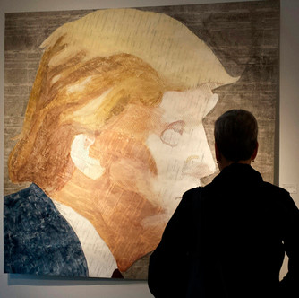 Geoffrey Stein:'I have started a Trump portrait using material from the Mueller Report'