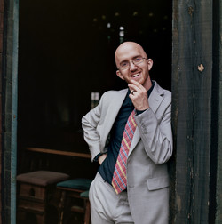 Groom in Suit at wedding